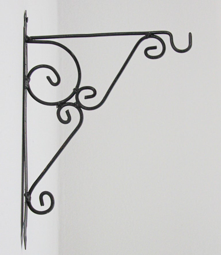Wall Mounted Iron Bracket for Lanterns or Signs For Sale 4