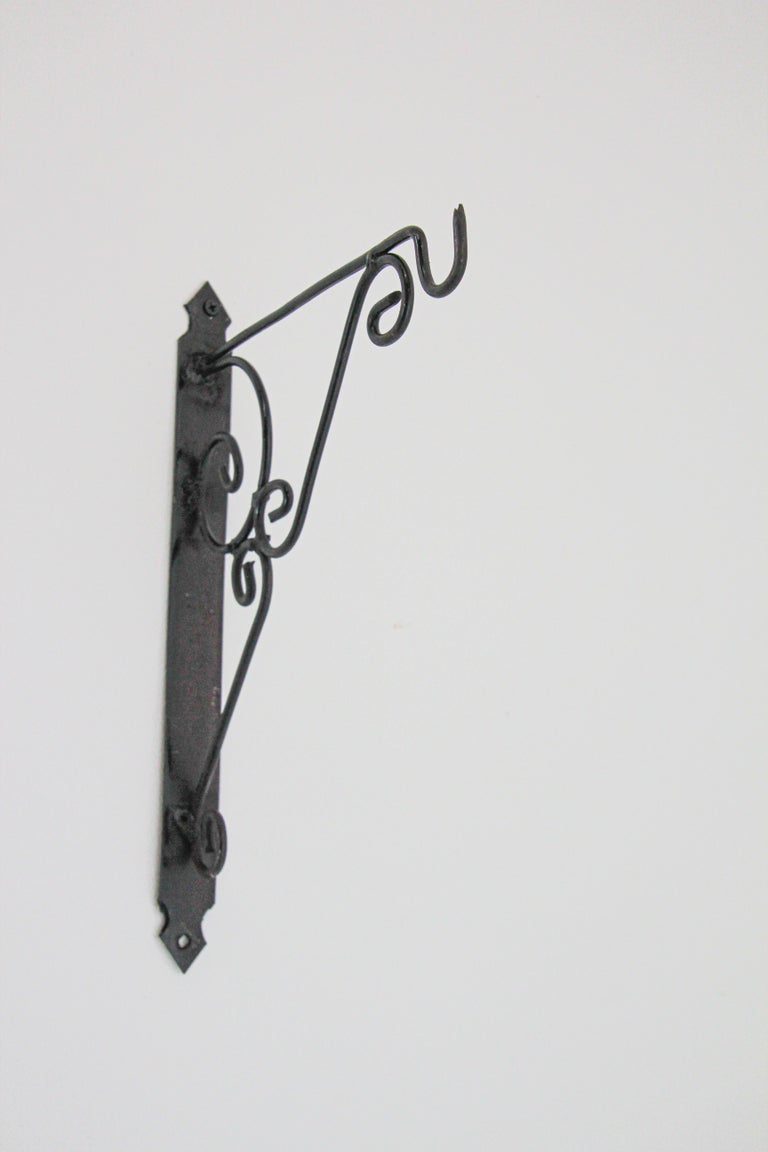 Moorish Wall Mounted Iron Bracket for Lanterns or Signs For Sale