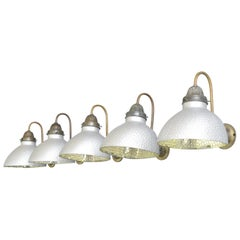Wall Mounted Mercury Glass Lights by Philips, circa 1930s