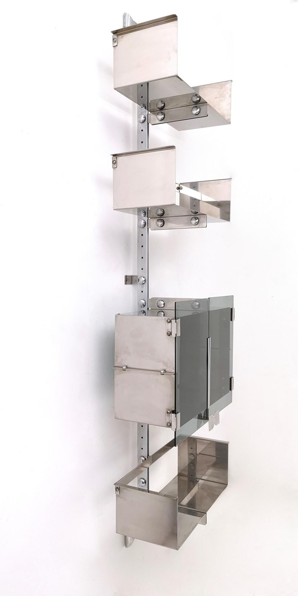 Wall Mounted Modular Shelving Unit By Vittorio Introini For