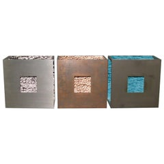 Wall Mounted Sculptures Patinated Iron H2O Serie, Limited Edition, Germany, 2000