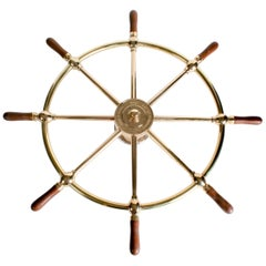 Wall Mounted Ship's Wheel by Brown Bros. & Co. Rosebank, Edinburgh