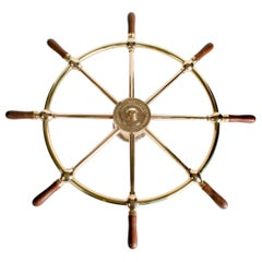 Wall Mounted Ship's Wheel by Brown Bros. & Co. Rosebank, Edinburgh