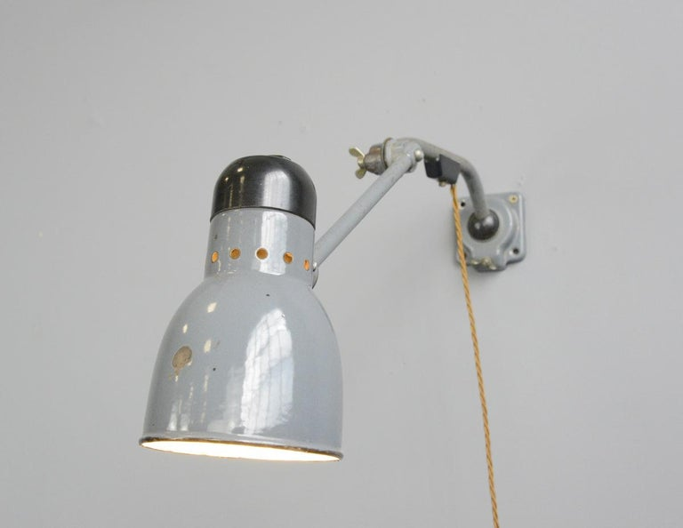 Wall-Mounted Task Lamp by Kandem, circa 1930s For Sale 1