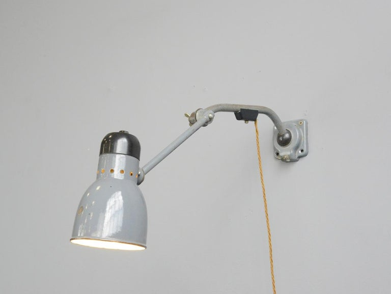 Wall-Mounted Task Lamp by Kandem, circa 1930s For Sale 2