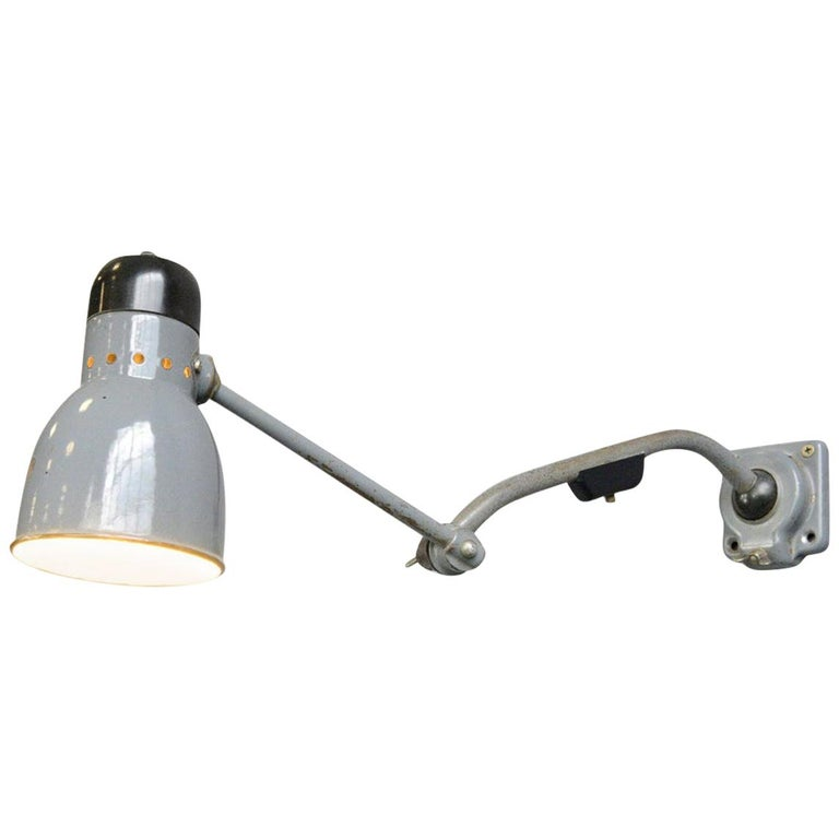 Wall-Mounted Task Lamp by Kandem, circa 1930s For Sale