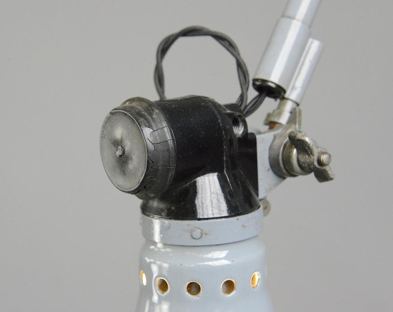 Industrial Wall Mounted Task Lamp by Rademacher, circa 1930s For Sale