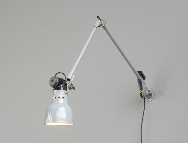 Mid-20th Century Wall Mounted Task Lamp by Rademacher, circa 1930s For Sale