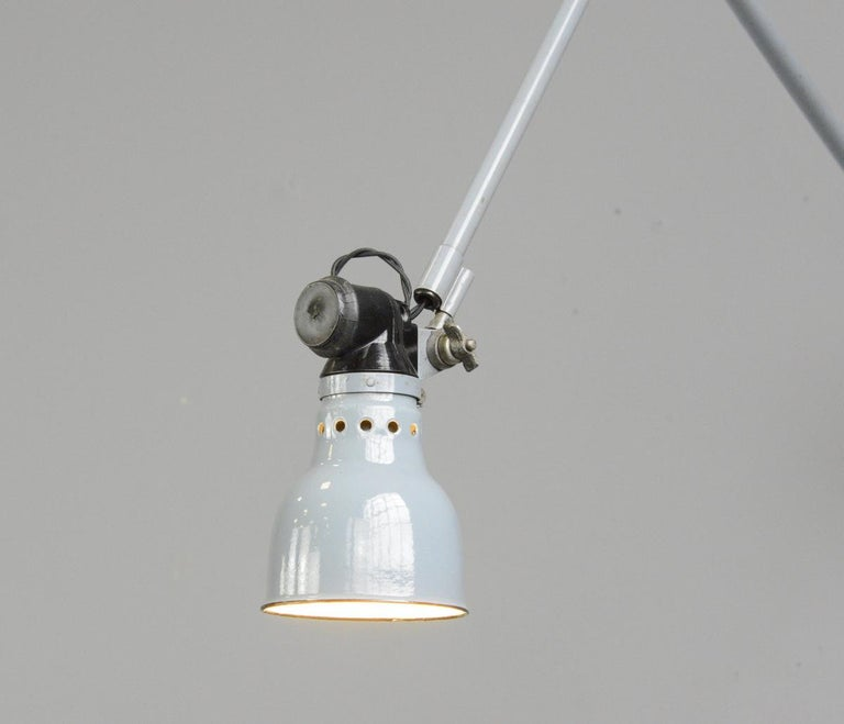 Steel Wall Mounted Task Lamp by Rademacher, circa 1930s For Sale