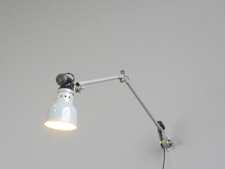 Wall Mounted Task Lamp by Rademacher, circa 1930s For Sale 1