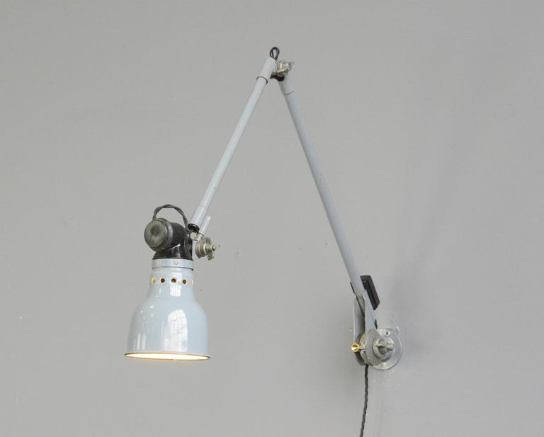 Wall Mounted Task Lamp by Rademacher, circa 1930s For Sale 2