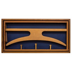 Wall-Mounted Valet in Pine by Hoff & Østergaard, Denmark, 1950s