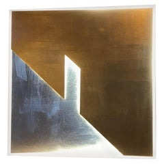 Wall Sconce Light Gate by Massimo Uberti Limited Edition 1/1 Gold Silver Leaf