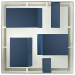 Wall Sconce Screen of Light by Gio Ponti Italy Limited Edition Varnished Blue