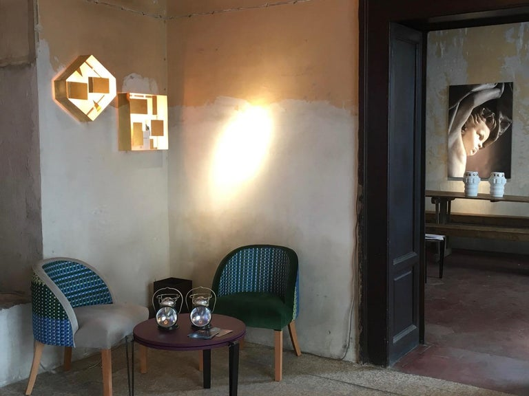 Italian Wall Sconce Screen of Light by Gio Ponti Limited Edition Italy Polished Brass For Sale