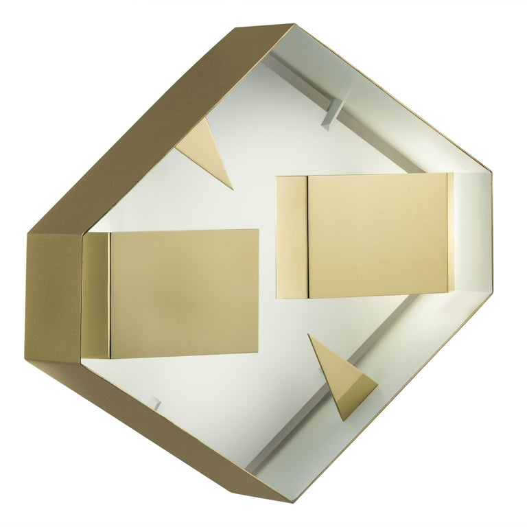 Wall Sconce Screen of Light by Gio Ponti Limited Edition Italy Polished Brass For Sale