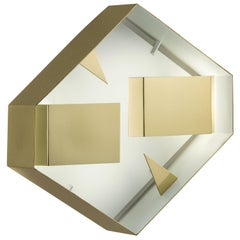 Wall Sconce Screen of Light by Gio Ponti Limited Edition Italy Polished Brass