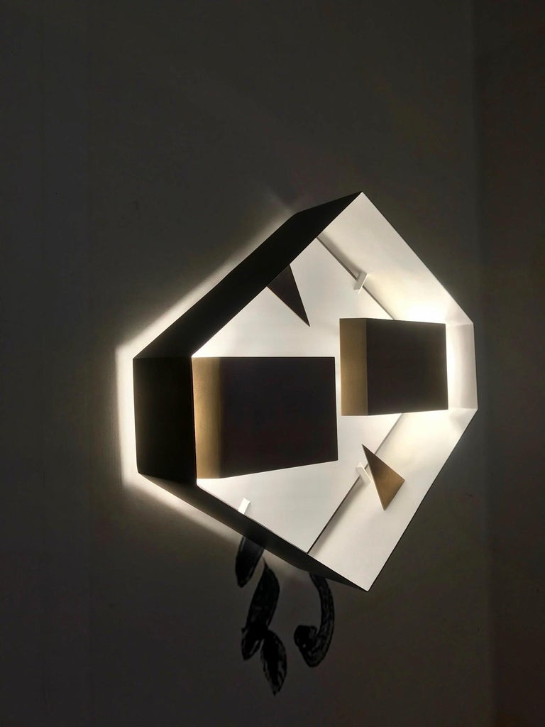 Wall Sconce Screen of Light Gio Ponti Limited Edition 2012 2017 Bronzed Brass In New Condition For Sale In Milan, IT