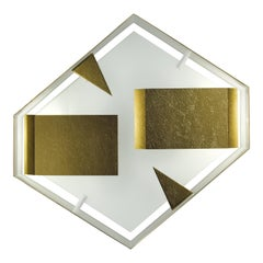 Wall Sconce Screen of Light Gio Ponti Limited Edition 2012 2017 Bronzed Brass