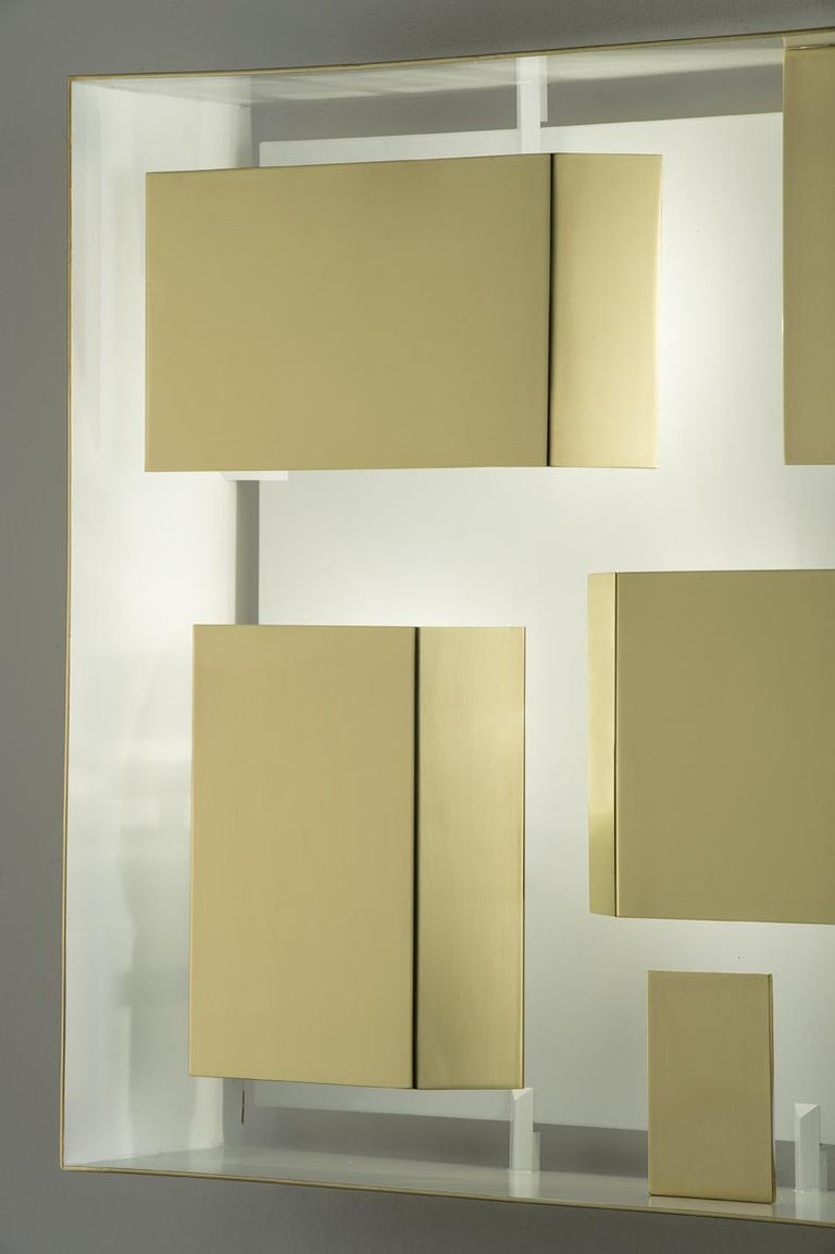 Modern Wall Sconce Screen of Light Gio Ponti Limited Edition 2012-2017 Polished Brass For Sale