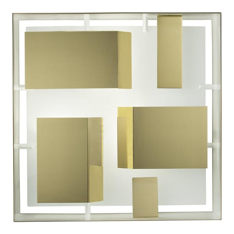 Wall Sconce Screen of Light Gio Ponti Limited Edition 2012-2017 Polished Brass For Sale