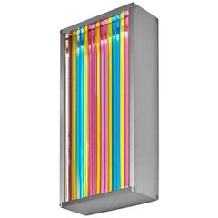 Colorful Contemporary Glass & Aluminum LED Wall Sconce Light