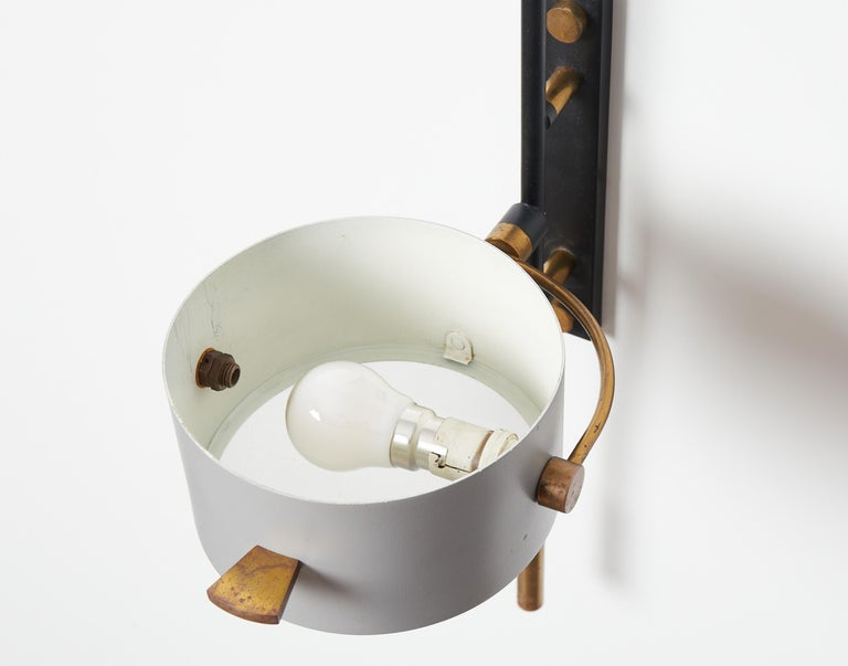 Wall Sconce with Lens Shaped Reflector by Maison Lunel, France, 1950 For Sale 3