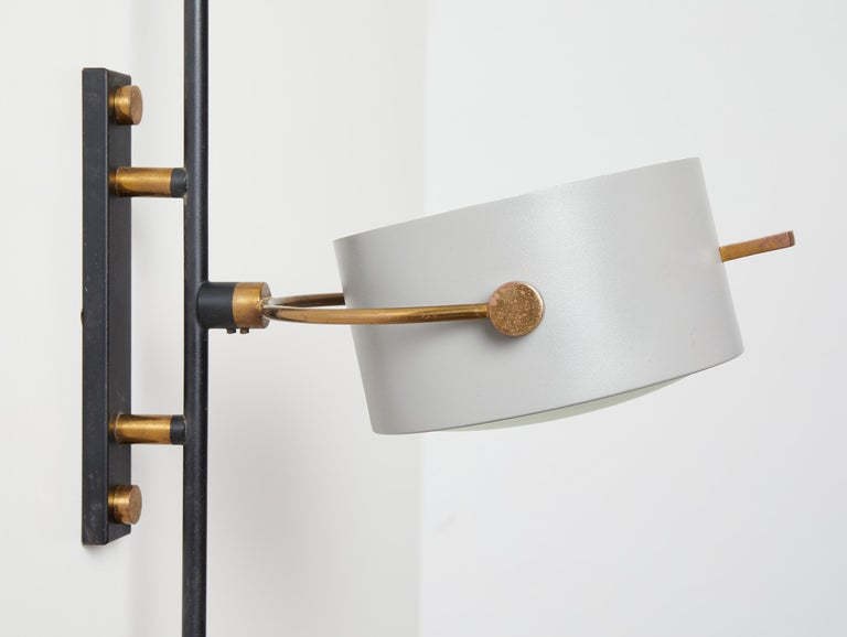 Wall Sconce with Lens Shaped Reflector by Maison Lunel, France, 1950 For Sale 4