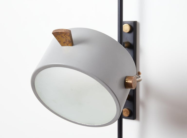 Wall Sconce with Lens Shaped Reflector by Maison Lunel, France, 1950 For Sale 2