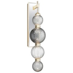 Wall Sconces Metal Frame Spheres Pyrex Glass in Different Color Led Lighting