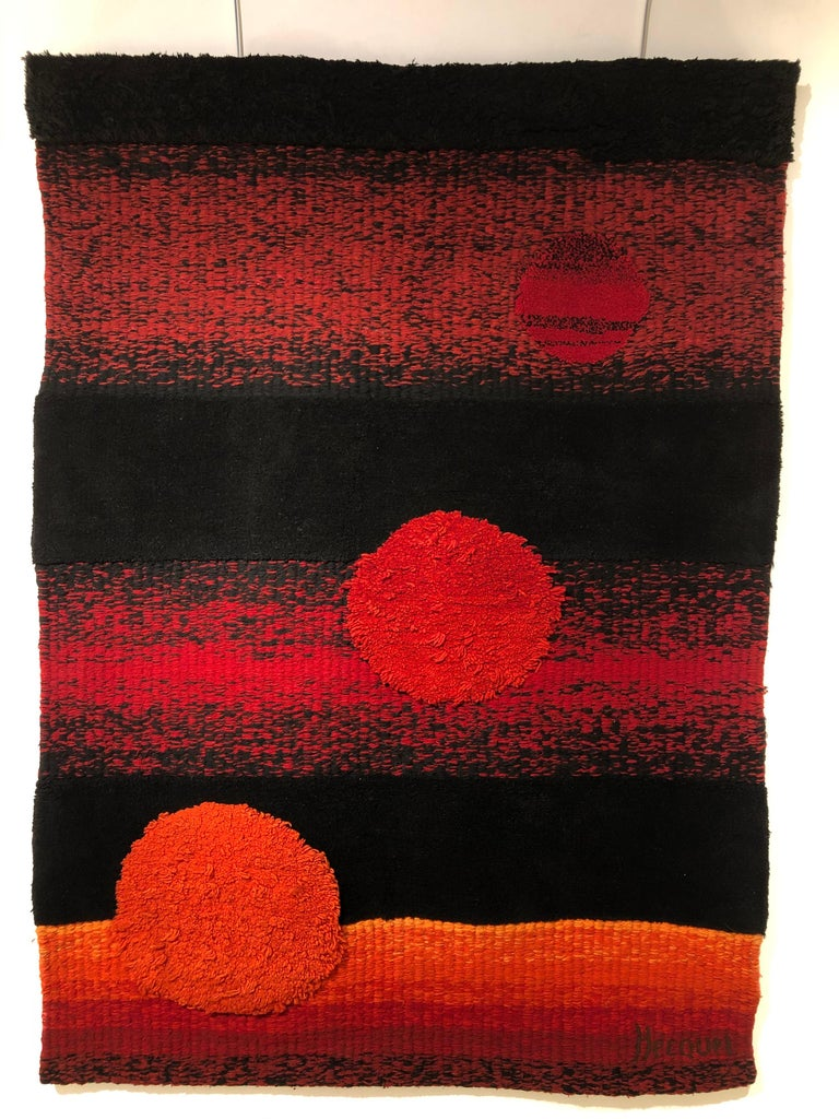 Wall Tapestry by Philippe Hecquet, 1970 For Sale 4