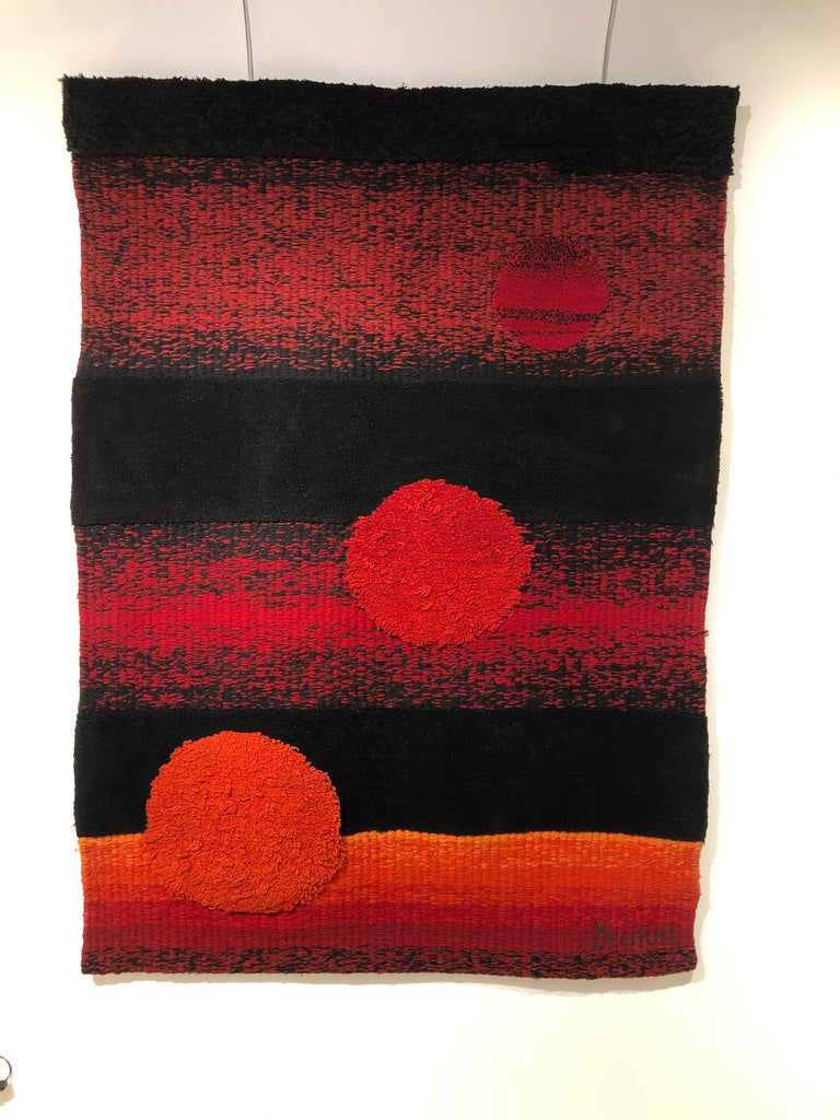 Wall tapestry by Philippe Hecquet  From 1970.
