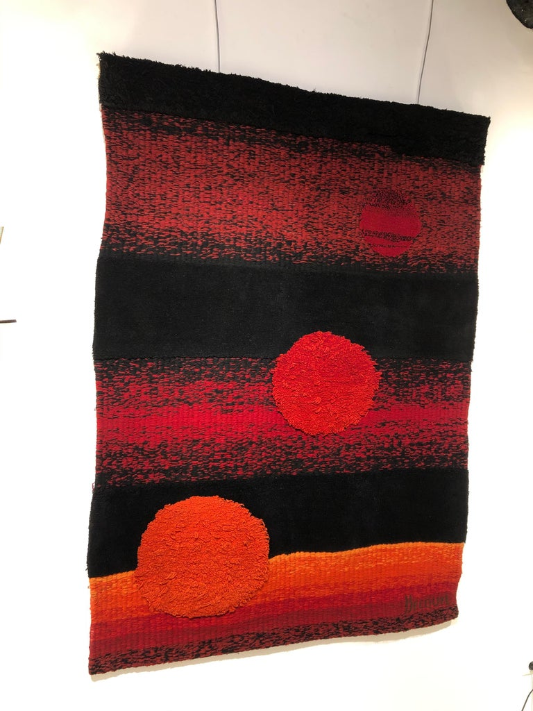 French Wall Tapestry by Philippe Hecquet, 1970 For Sale