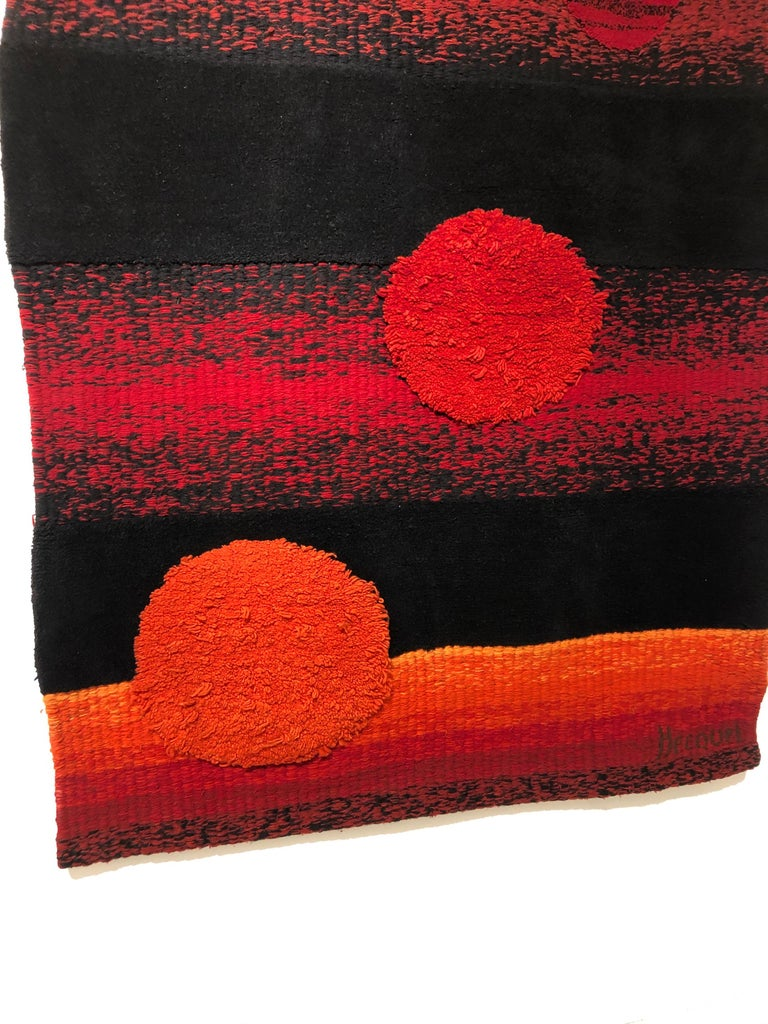 Appliqué Wall Tapestry by Philippe Hecquet, 1970 For Sale