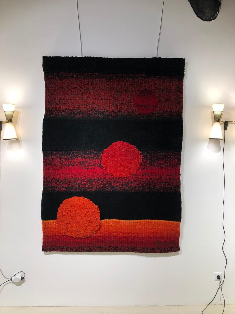 Wall Tapestry by Philippe Hecquet, 1970 In Good Condition For Sale In Saint-Ouen, FR