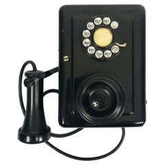 Wall Telephone Model 553 a Candlestick circa 1930 by Western Electric