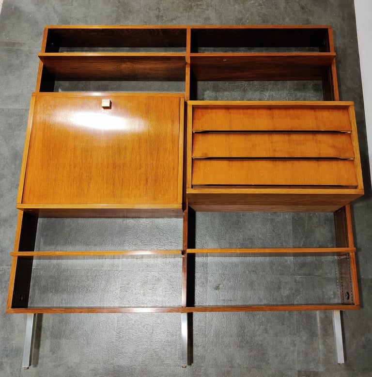 Mid-Century Modern Wall Unit by Alfred Hendrickx for Belform, 1960s For Sale