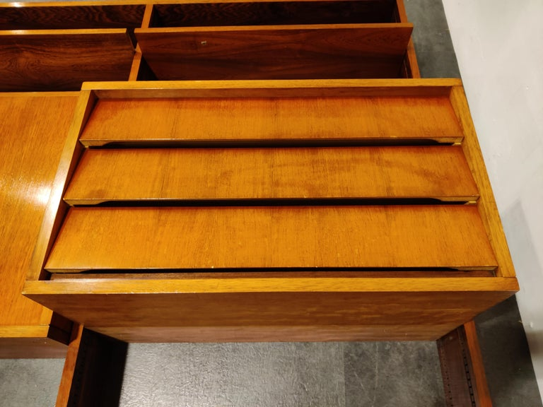 Mid-20th Century Wall Unit by Alfred Hendrickx for Belform, 1960s For Sale