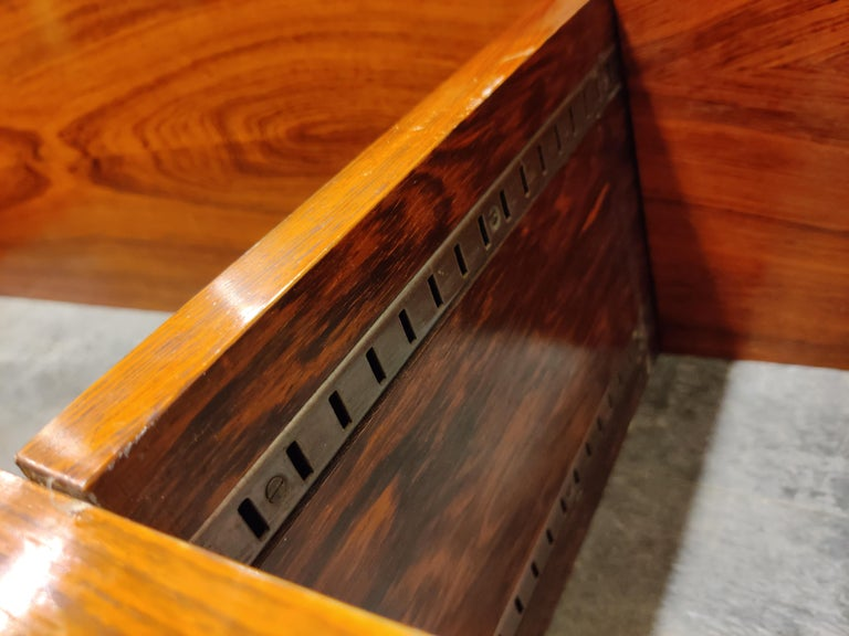 Rosewood Wall Unit by Alfred Hendrickx for Belform, 1960s For Sale