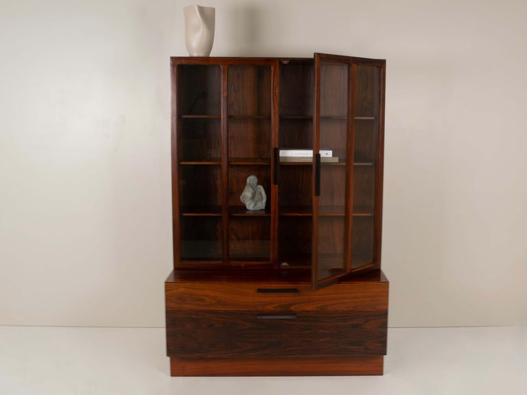 Wall Unit by Ib Kofod-Larsen for Faarup Møbelfabrik in Rosewood, Denmark 1960s For Sale 4