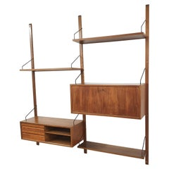Wall Unit in Elmwood by Poul Cadovius for Royal System, Denmark, 1950s