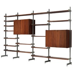 Wall Unit in Rosewood and Aluminum