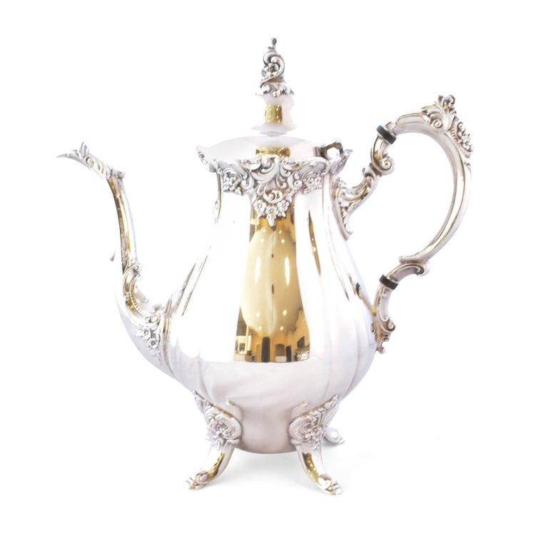 Wallace Baroque Silver Plate Tea Service For Sale 5