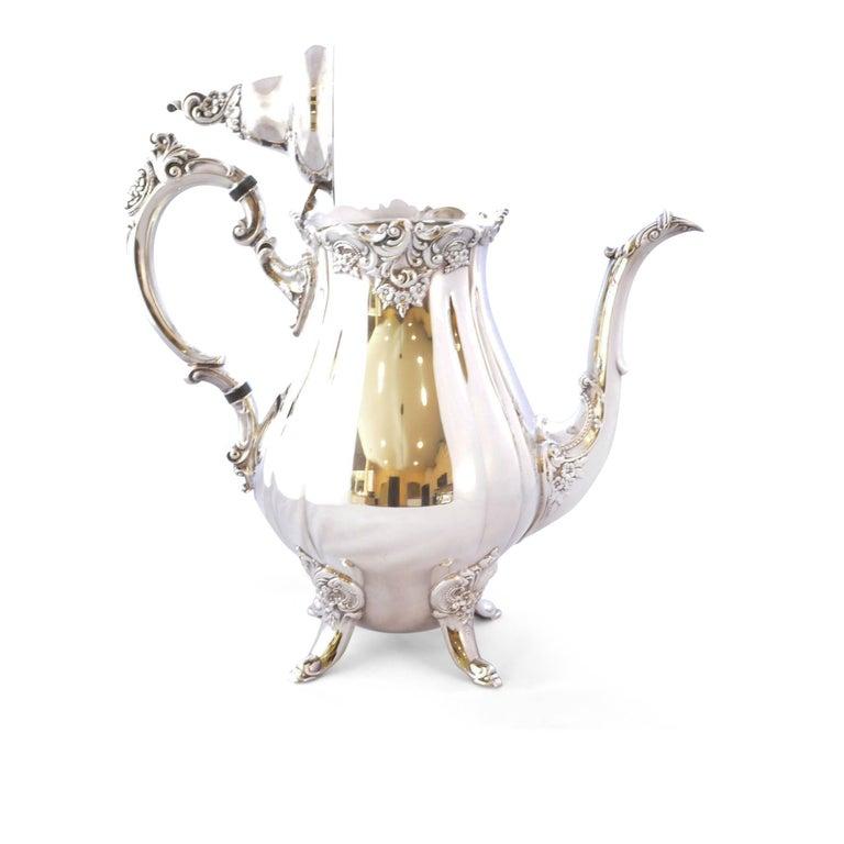 Wallace Baroque Silver Plate Tea Service For Sale 7