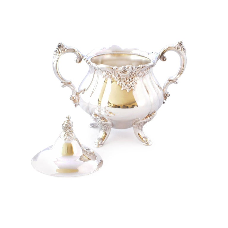 Wallace Baroque Silver Plate Tea Service For Sale 10