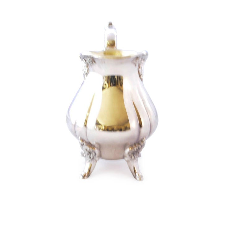 Wallace Baroque Silver Plate Tea Service For Sale 11