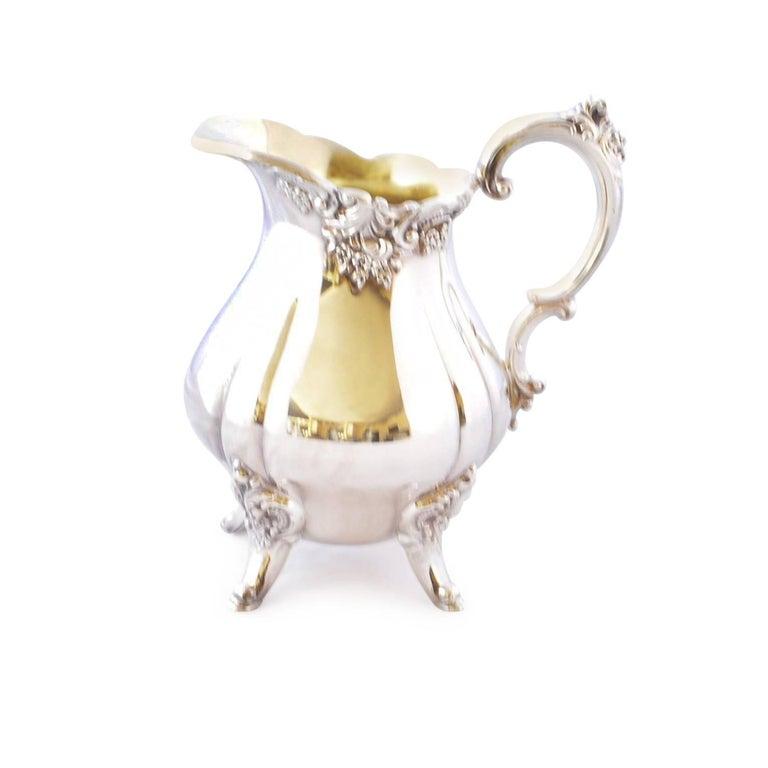 Wallace Baroque Silver Plate Tea Service For Sale 12