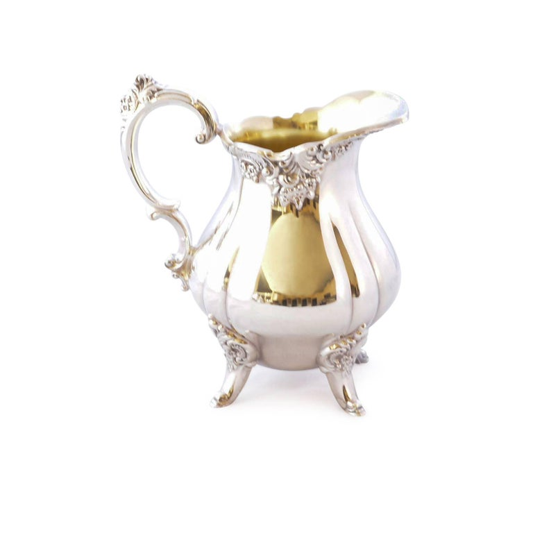 Wallace Baroque Silver Plate Tea Service In Good Condition For Sale In Pataskala, OH