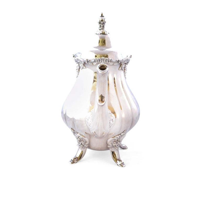 Wallace Baroque Silver Plate Tea Service For Sale 1