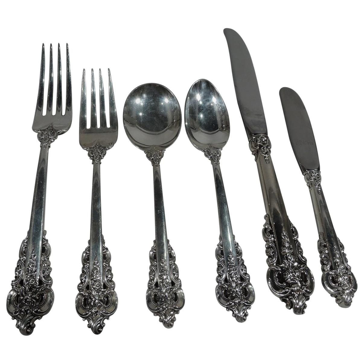 WALLACE STERLING GRANDE BAROQUE SALAD//DESERT FORK 6 1//2 IN EXCELLENT CONDITION